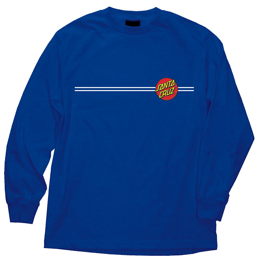 Santa Cruz Classic Dot Regular L/S - Royal Blue - Men's T-Shirt