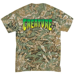 Creature Logo Regular S/S - Camouflage Green - Men's T-Shirt