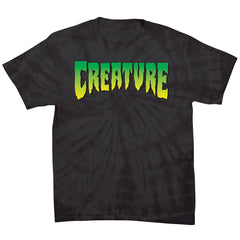 Creature Logo Regular S/S - Spider Black - Men's T-Shirt