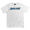 Santa Cruz Shatter Strip Regular S/S - White - Mens T-Shirt