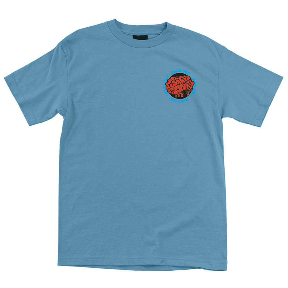Santa Cruz Skate Brain Regular S/S - Carolina Blue - Mens T-Shirt