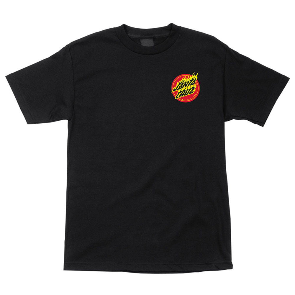 Santa Cruz Flaming Dot Regular S/S - Black - Youth T-Shirt