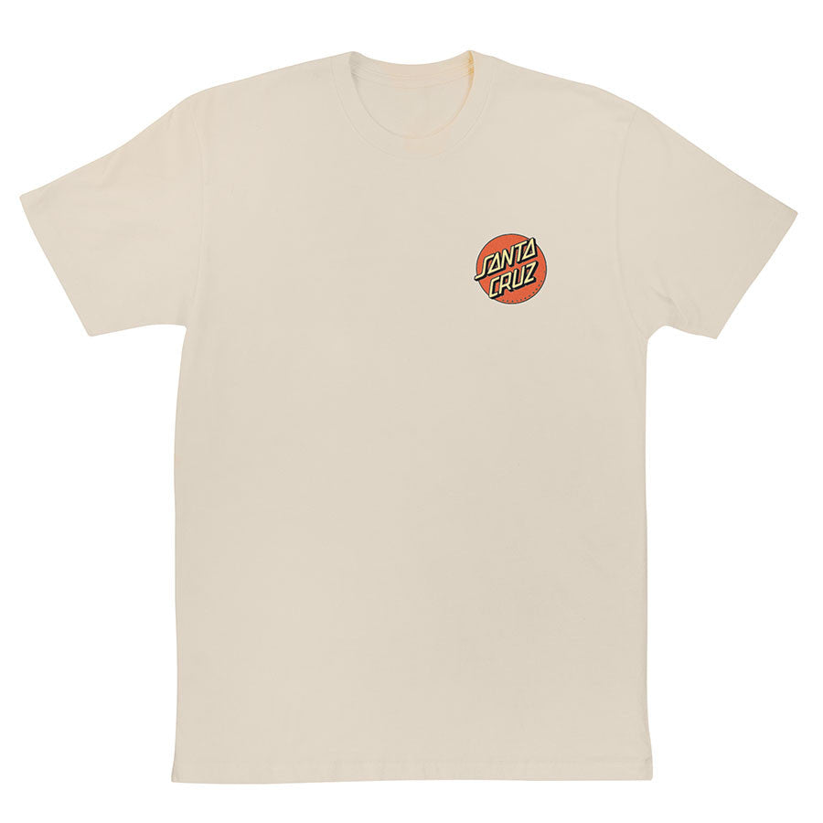 Santa Cruz Vintage Slasher Regular S/S - Natural - Men's T-Shirt