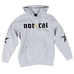 Nor Cal Medieval Pullover Hooded L/S - Grey Heather - Mens Sweatshirt