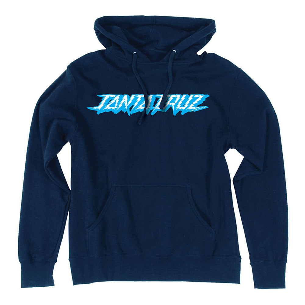 Santa Cruz Shock Dot Pullover Hooded L/S - Navy - Mens Sweatshirt