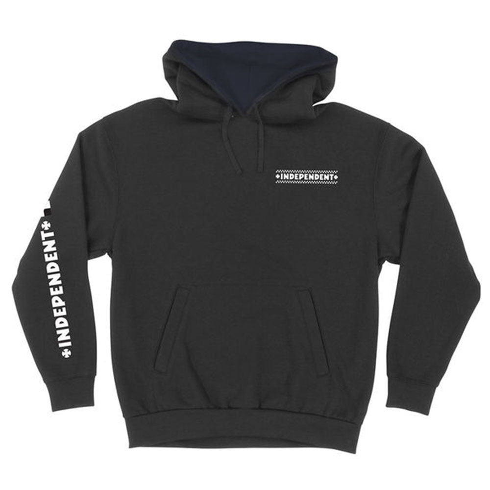 Independent Finish Line Pullover Hooded L/S - Black - Men's Sweatshirt