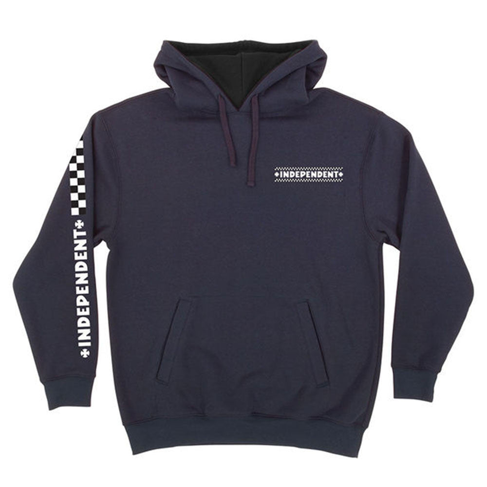 Independent Finish Line Pullover Hooded L/S - Navy - Men's Sweatshirt