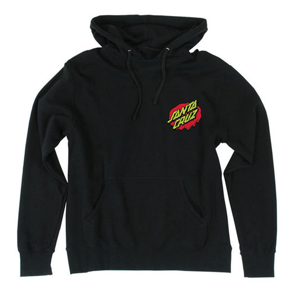 Santa Cruz Rob Hand Pullover Hooded L/S - Black - Men's Sweatshirt