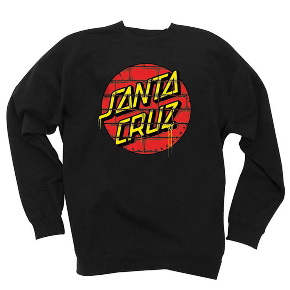 Santa Cruz Tagged Dot Crew Neck L/S - Black - Men's Sweatshirt