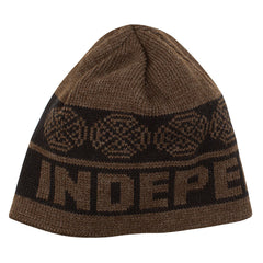 Independent Woven Crosses Skull Cap - OS - Black/Heather Brown - Men's Beanie