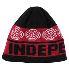 Independent Woven Crosses Skull Cap - OS - Red/Black/White - Men's Beanie
