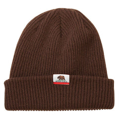 Nor Cal Blitz Long Skull Cap - One Size Fits All - Brown - Men's Beanie