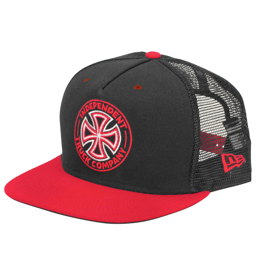 Independent O.G.T.C. New Era Trucker 9 Fifty - Black/Red - Men's Hat