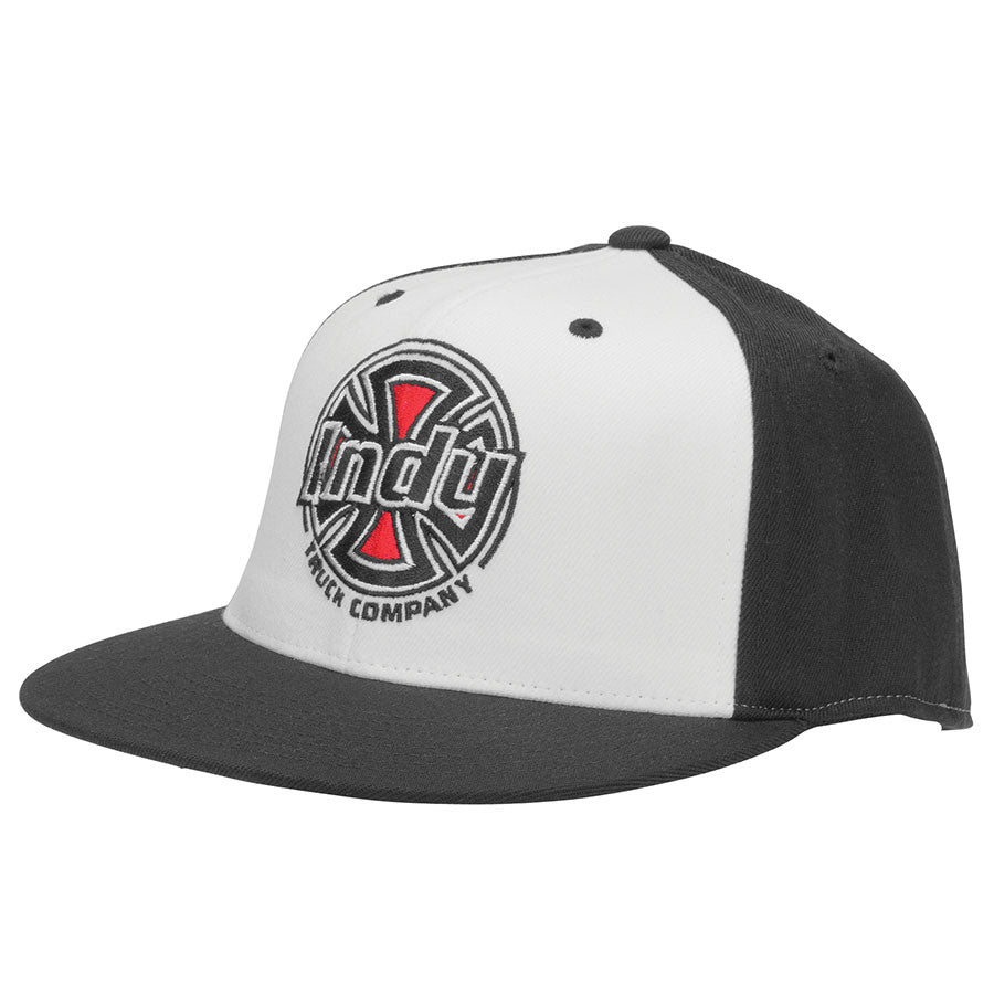 Independent Rally FlexFit Fitted Stretch - Black/White - Men's Hat