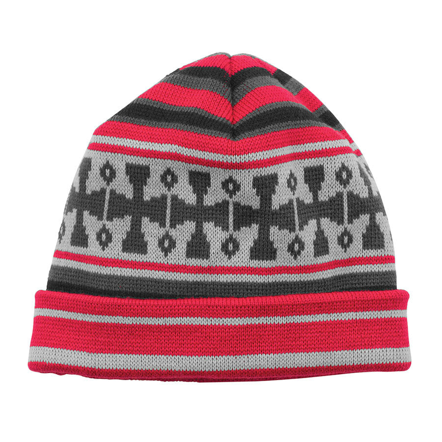 Independent Flake Long Shoreman - OS - Red/Ebony/Silver - Men's Beanie