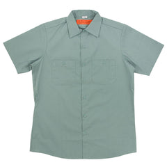 Independent BTG Ring Workshirt S/S - Light Green - Men's Collared Shirt