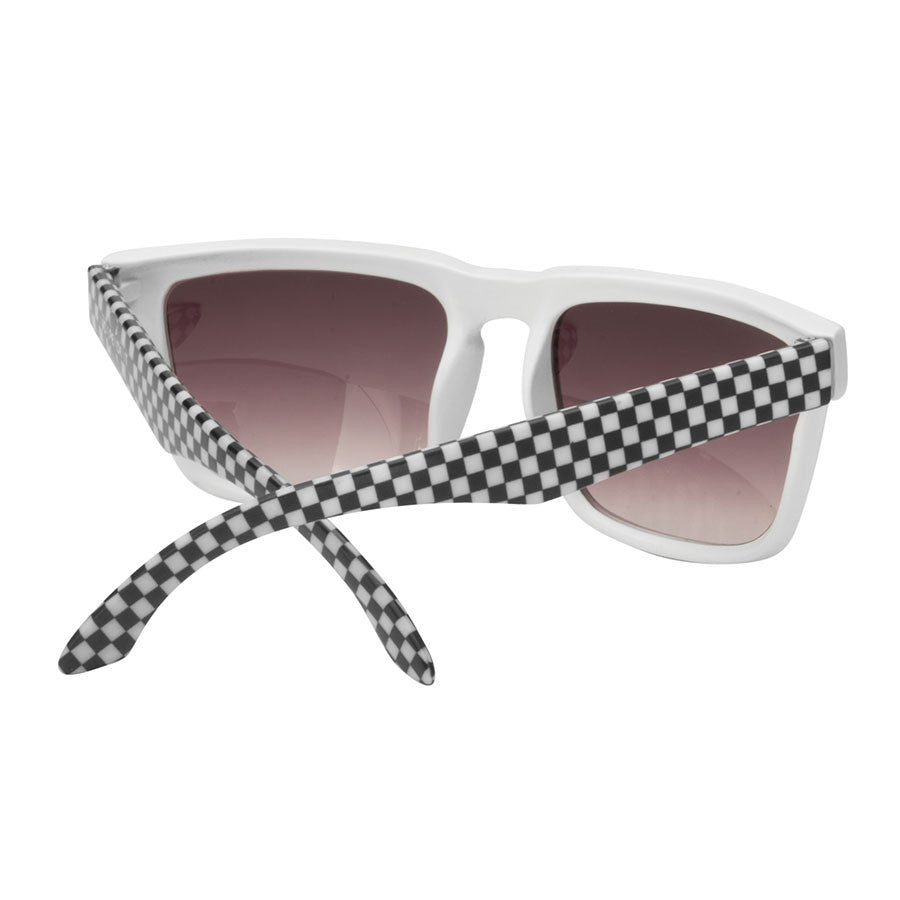 Independent Pattern Square - White/Black Checker - OS Unisex - Sunglasses