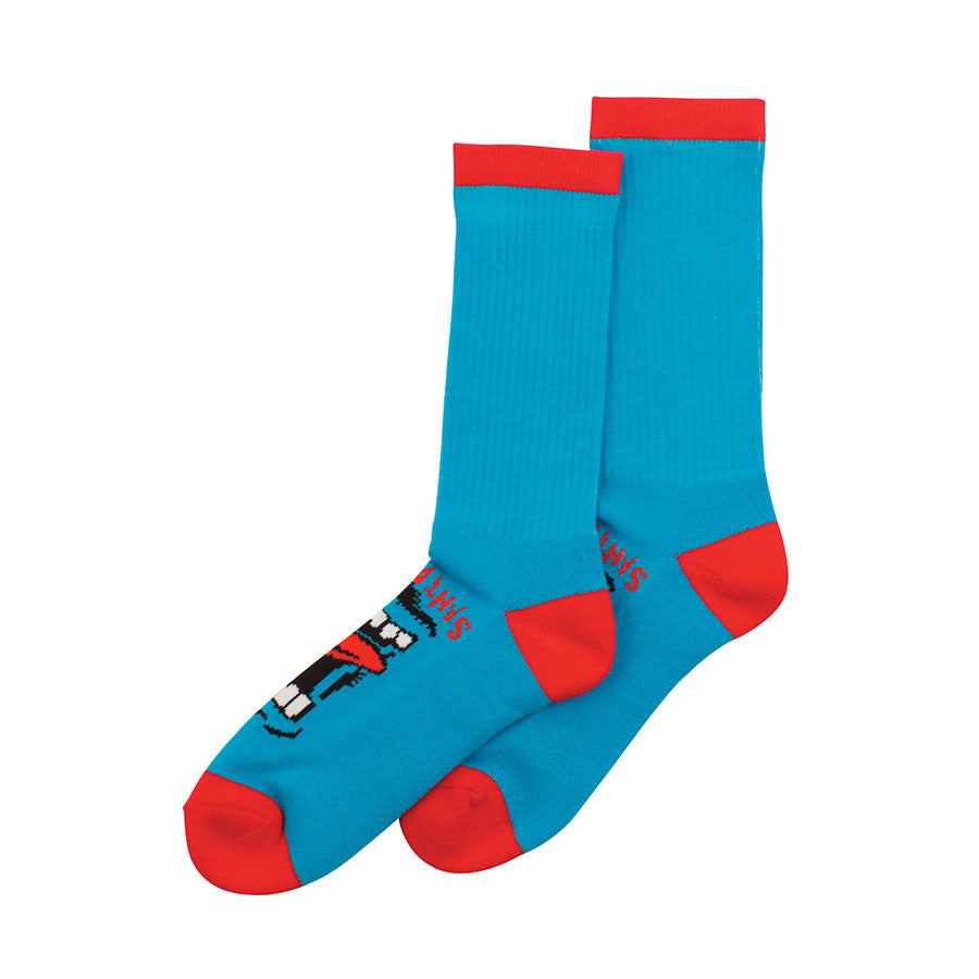 Santa Cruz Screaming Crew Socks - Blue - Men's Socks (2 Pairs)