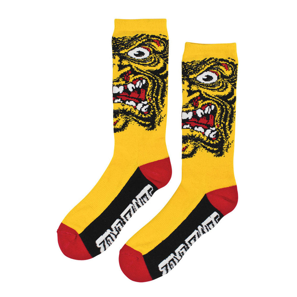 Santa Cruz Rob Face Crew - Yellow - Men's Socks (1 Pair)