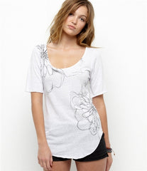 Roxy Fizzled Tee - White - Womens Shirt