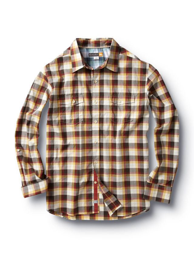 Quiksilver Shoal Bay Shirt - Brown - Mens T-Shirt
