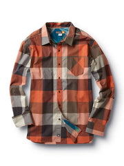 Quiksilver Akuna Reef Shirt - Orange - Mens T-Shirt