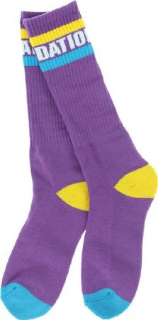 Foundation Tall Stripe - Purple - Men's Socks (1 Pair)