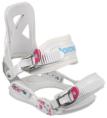 Lamar MX100 09 - Youth Girls White Snowboard Bindings