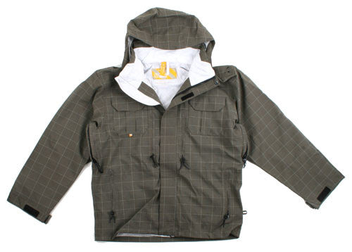 Special Blend Circa 08 - Warm Grey Check Grid - Snowboarding Jacket - Large