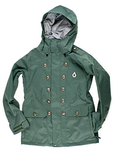 Volcom Hime 2009 - Combat Green - Snowboarding Jacket