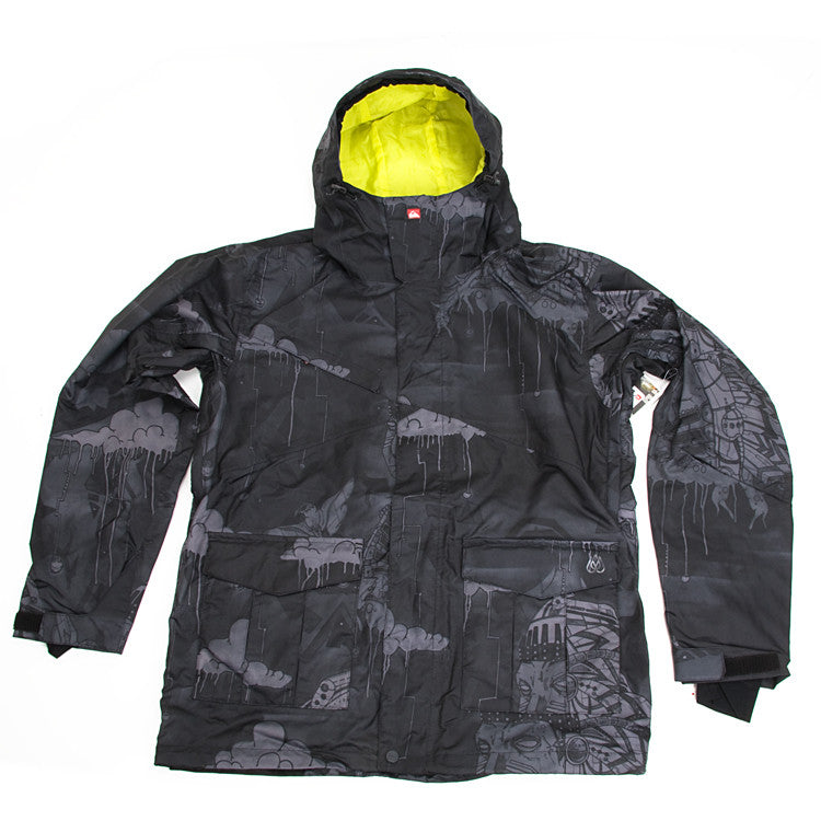 Quiksilver Travis Rice Shell - Black Print - Snowboarding Jacket