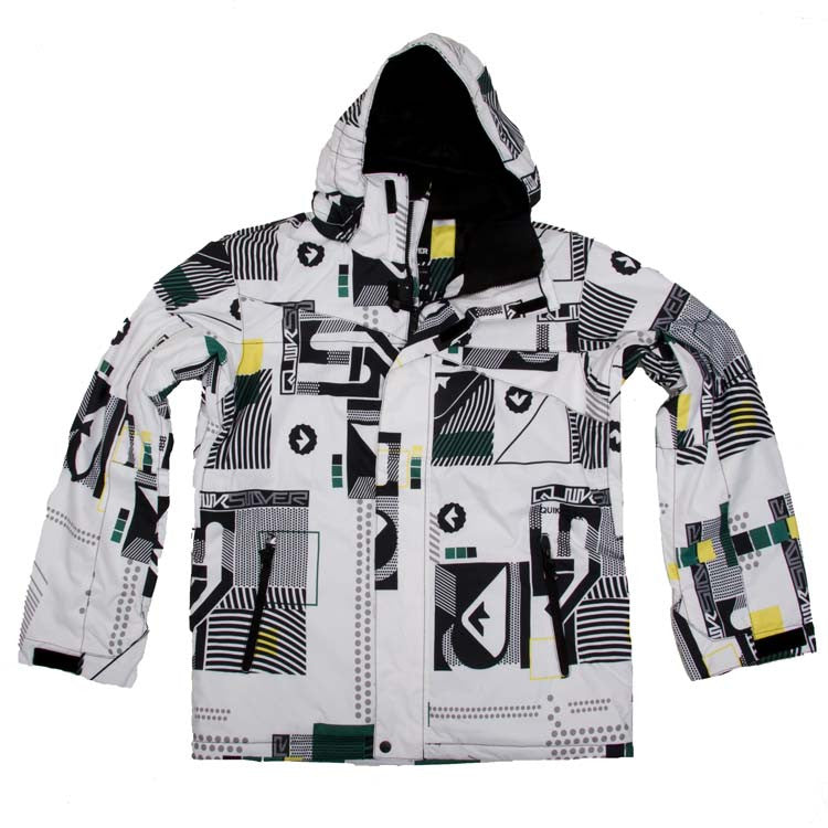 Quiksilver Last Mission - White - Snowboarding Jacket