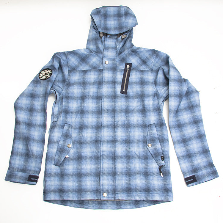 Holden Heath - Blue Plaid - Snowboarding Jacket - Large
