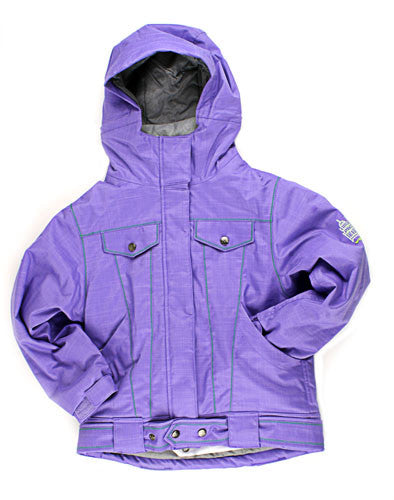 686 Isabella - Lavender Denim - Girls Youth - Snowboarding Jacket