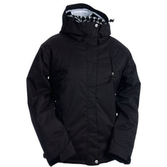 Ride Greenwood - Black Herringbones - Women's Snowboarding Jacket
