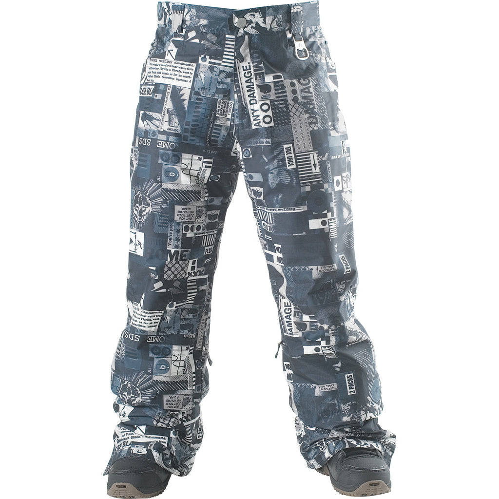 Rome DSK - Men's Snowboarding Pants - Collage Print - X Large