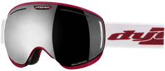 Dye CLK Red Snowboard Goggles w/ 2 Additional Lenses - Smoke Silver Polarized