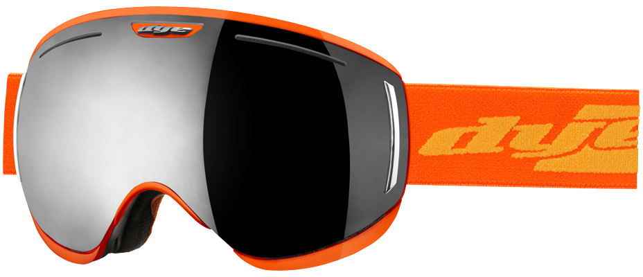 Dye CLK Orange Snowboard Goggles w/ Additional Lens - Smoke Silver