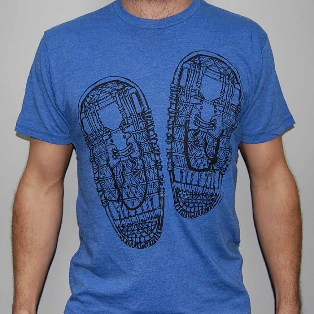 Slow Loris Snowshoes on Vintage Blue T-Shirt - Blue - Mens T-Shirt