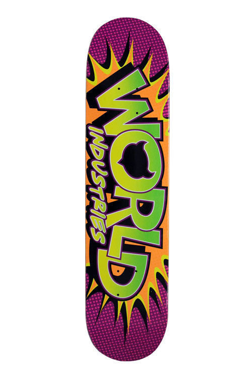 World Industries Whammo - Purple/Orange/Green - 7.5 - Skateboard Deck