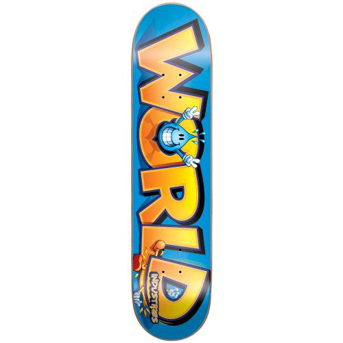 World Industries Willy Wins - Blue/Yellow - 7.0 - Skateboard Deck