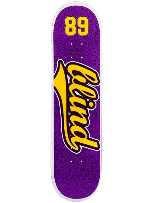 Blind Athletic Skin SS - Purple/Yellow - 8.25 - Skateboard Deck