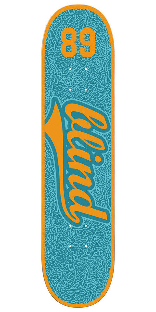 Blind Athletic Skin SS - Teal/Orange - 7.75 - Skateboard Deck
