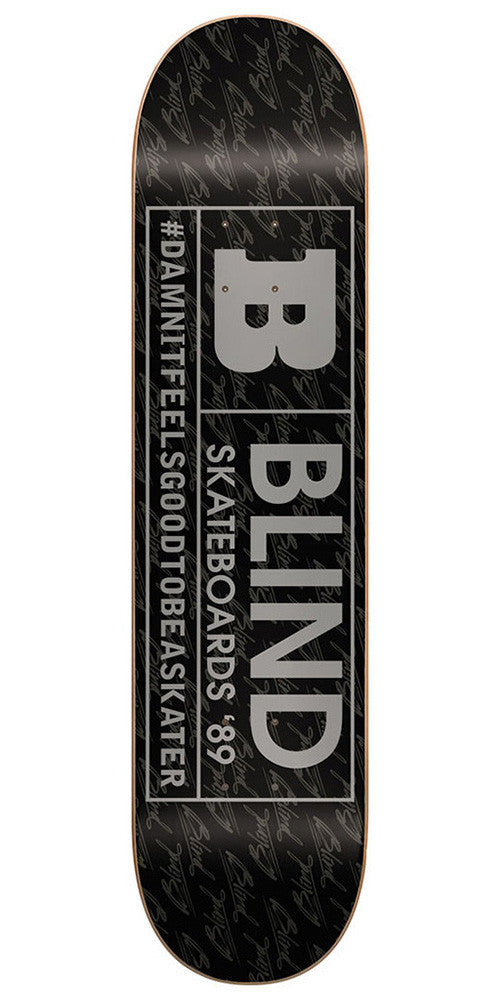 Blind Rated B SS 15/30 - Black/Silver - 7.5 - Skateboard Deck