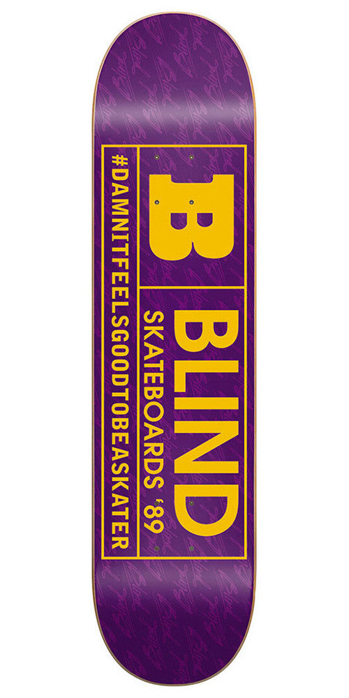 Blind Rated B SS 15/30 - Purple/Yellow - 7.75 - Skateboard Deck