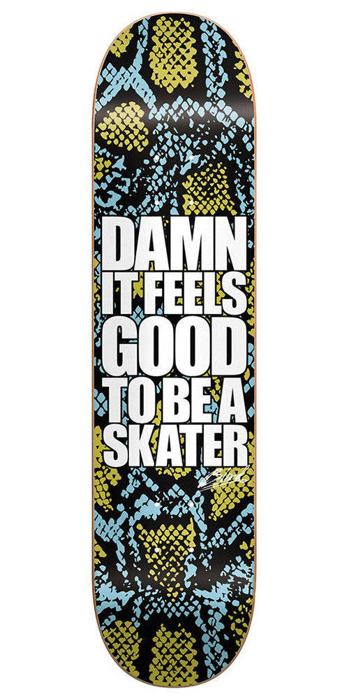Blind Damn Snake Skin SS 20/40 - Blue/Gold - 8.0 - Skateboard Deck