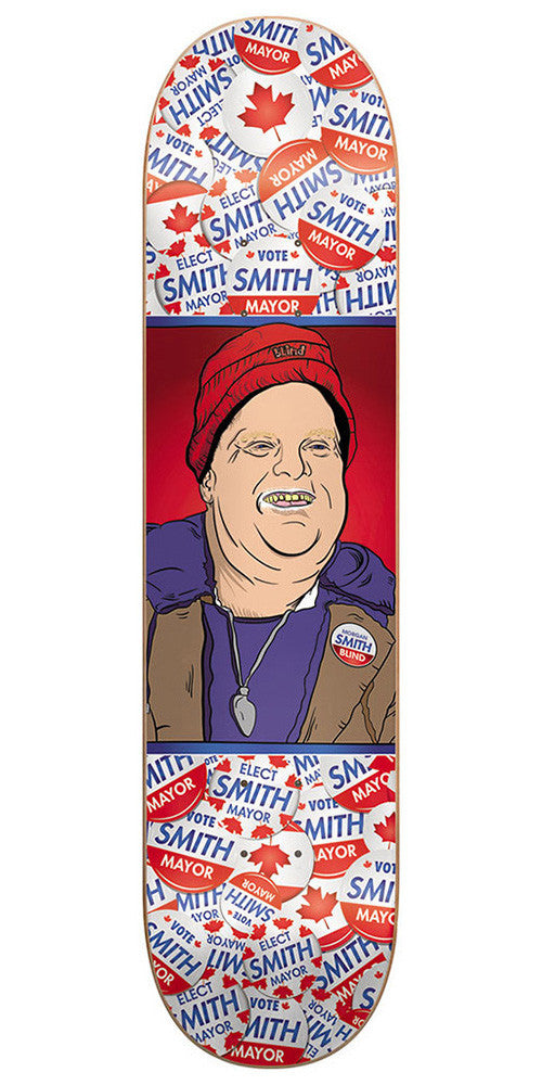 Blind Morgan Smith Mayor Smith R7 - White/Red - 8.0 - Skateboard Deck