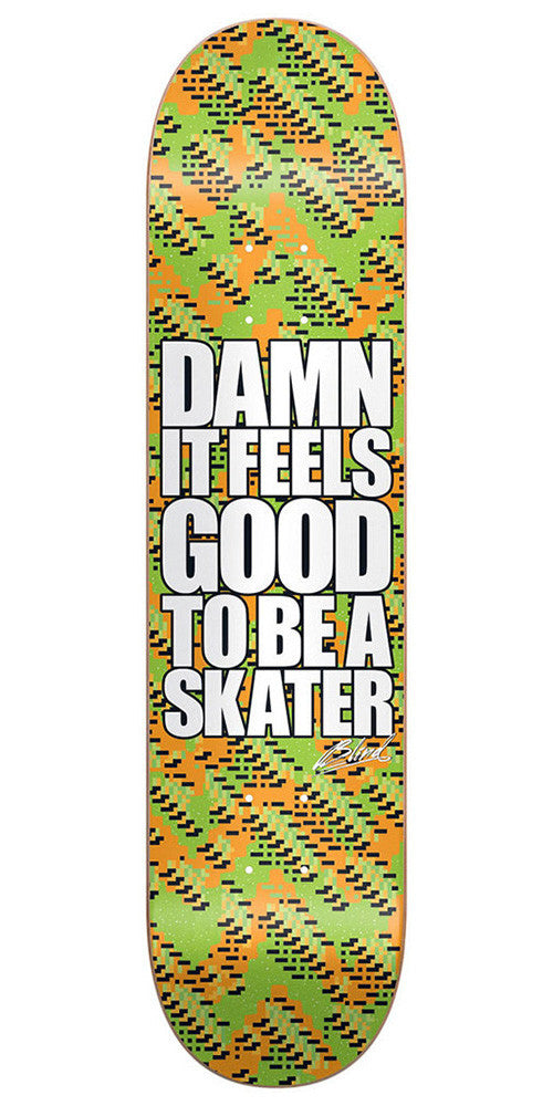 Blind Damn Glitch SS - Orange/Green - 8.25 - Skateboard Deck
