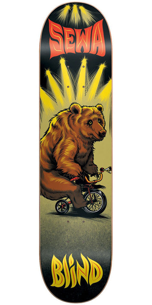 Blind Sewa Bear On Bike R7 - Black - 7.75in - Skateboard Deck