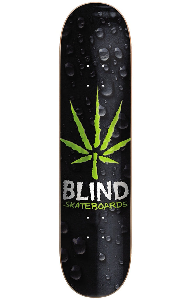 Blind Energy Leaf HYB - Black/Green - 8.25in - Skateboard Deck